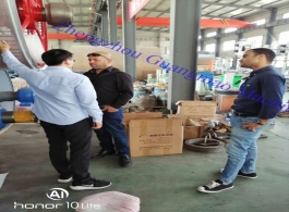 Welcome Algerian Clients Visit Guangmao Factory